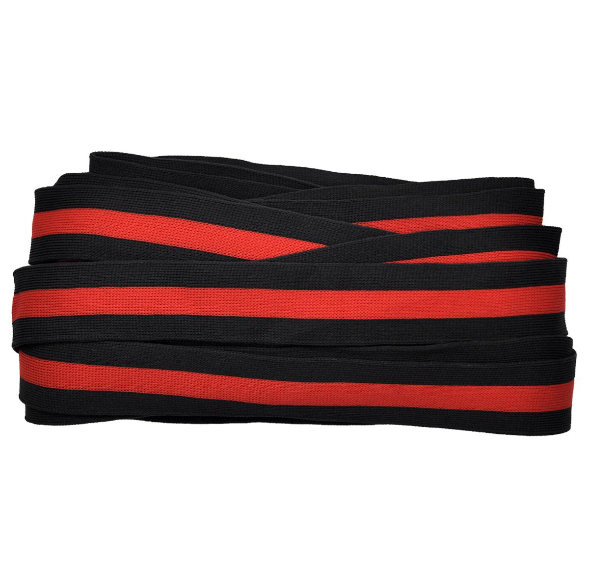 Лента лампасная №10 черная/красная/черная 3см уп*10м, 2135001286158