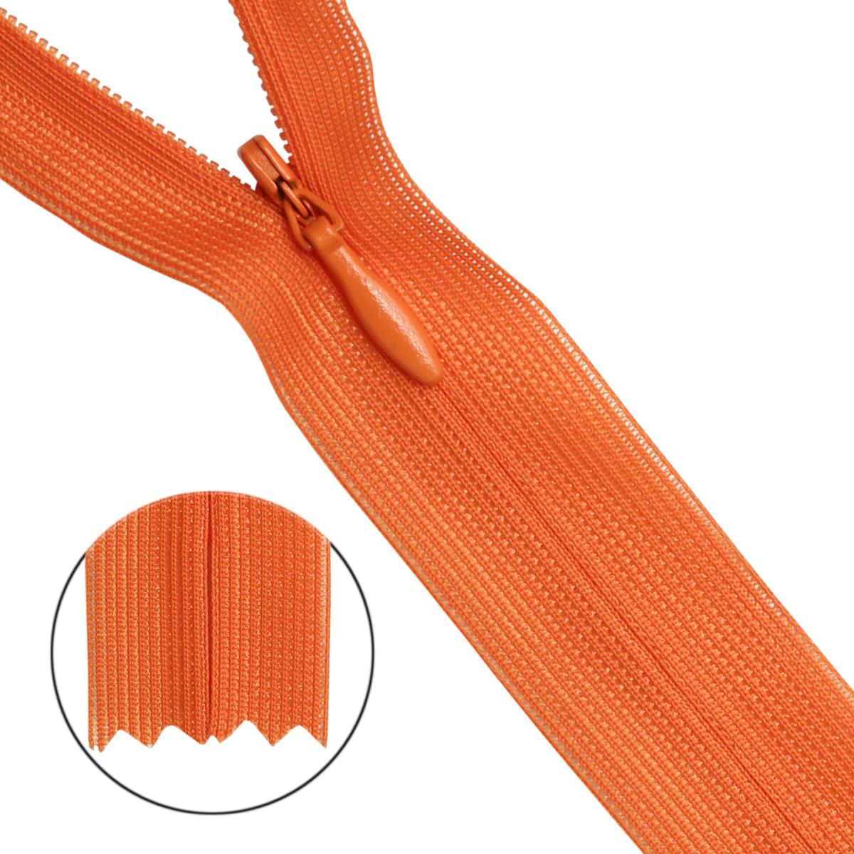 31223/20 Молния потайн. пл/мет-1 тип-3 оранж.