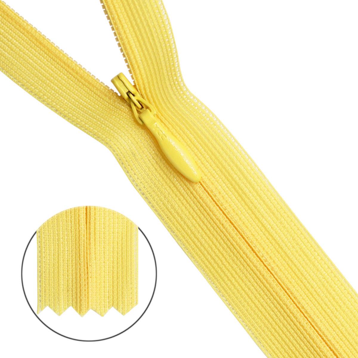 31286/50 Молния потайн. пл/мет-1 тип-3 бл.желт.