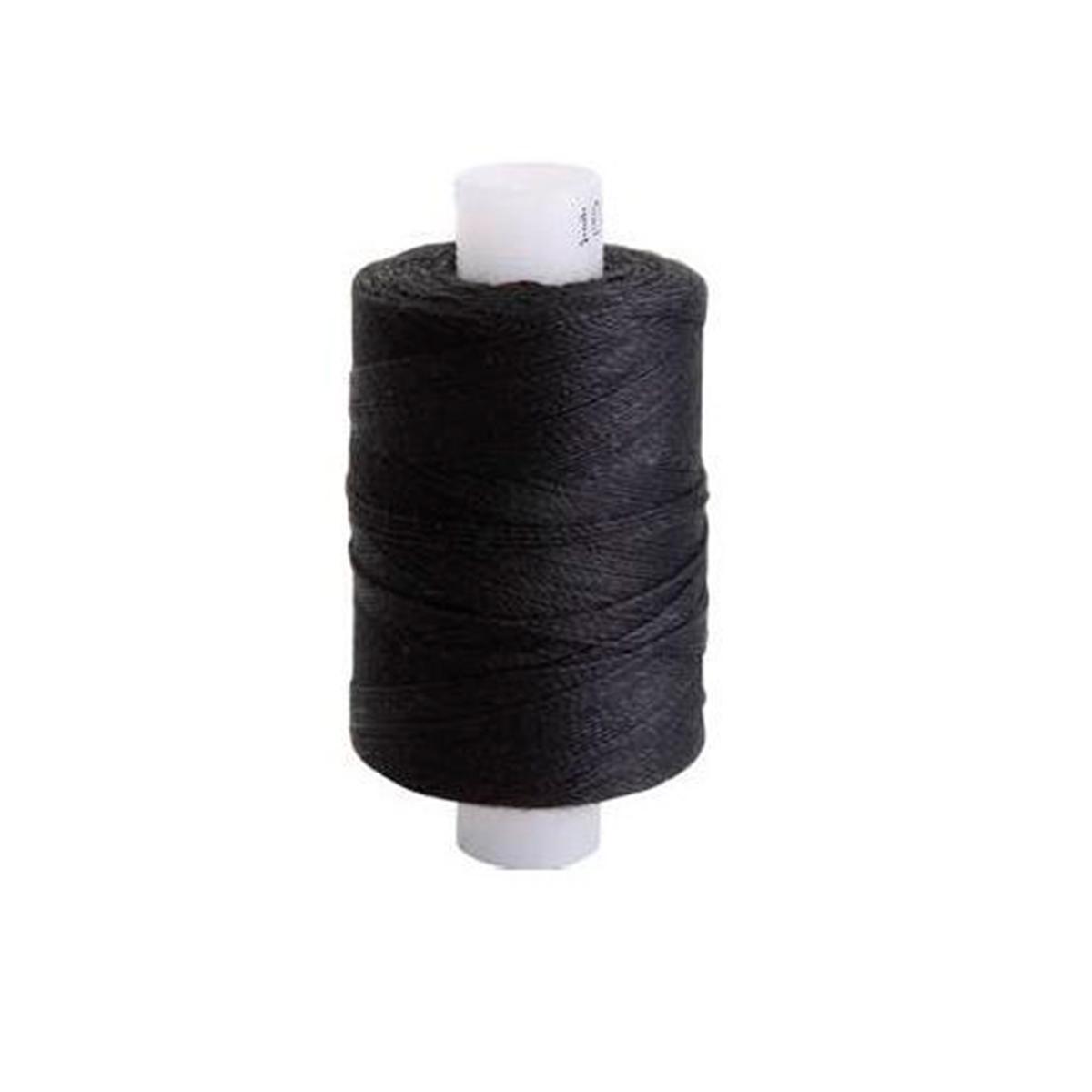 Армированные швейные бытовые нитки 100ЛЛ черный