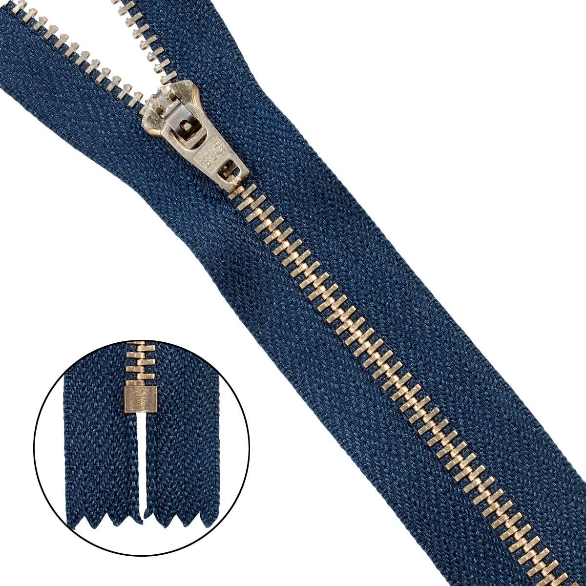 39061/14-3 Молния джинсовая 14 см. син.