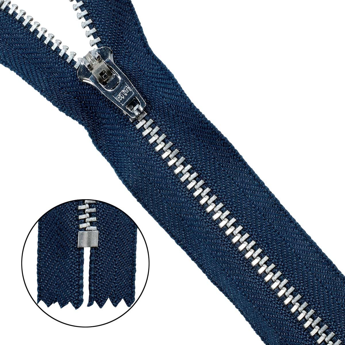 39081/14-Н Молния джинсовая 14см син.