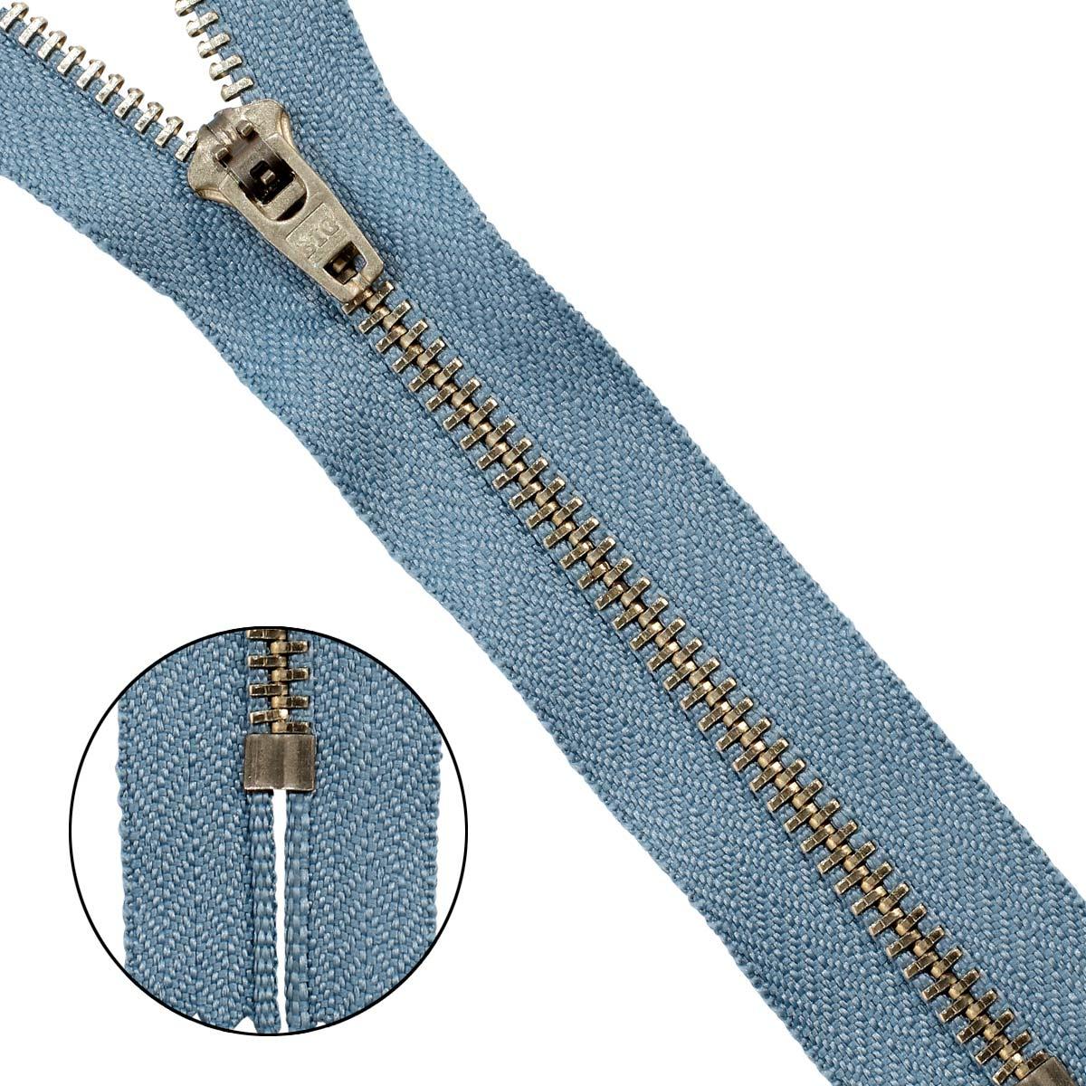 39097/16-3 Молния джинсовая 16 см с/сер.