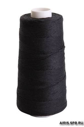 Армированные швейные нитки 100ЛЛ черные