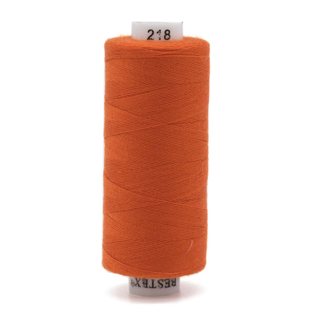 Нитки, 40/2, 400 ярд., 100% полиэстер, Bestex (218 т.оранжевый) фото