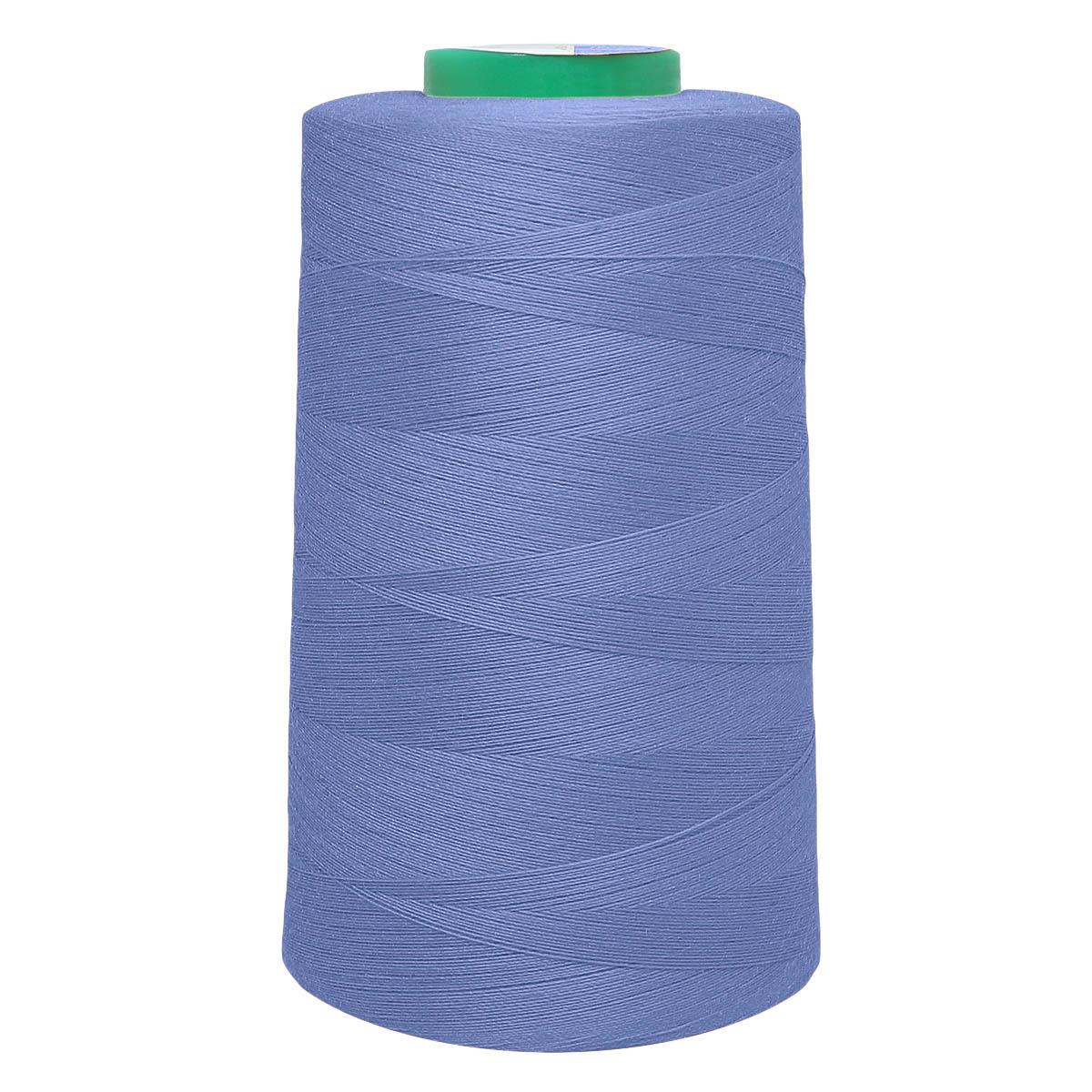 Универсальная швейная нить, 40/2, 5000 ярд, 100% пэ, Bestex (090 т.т.голубой)