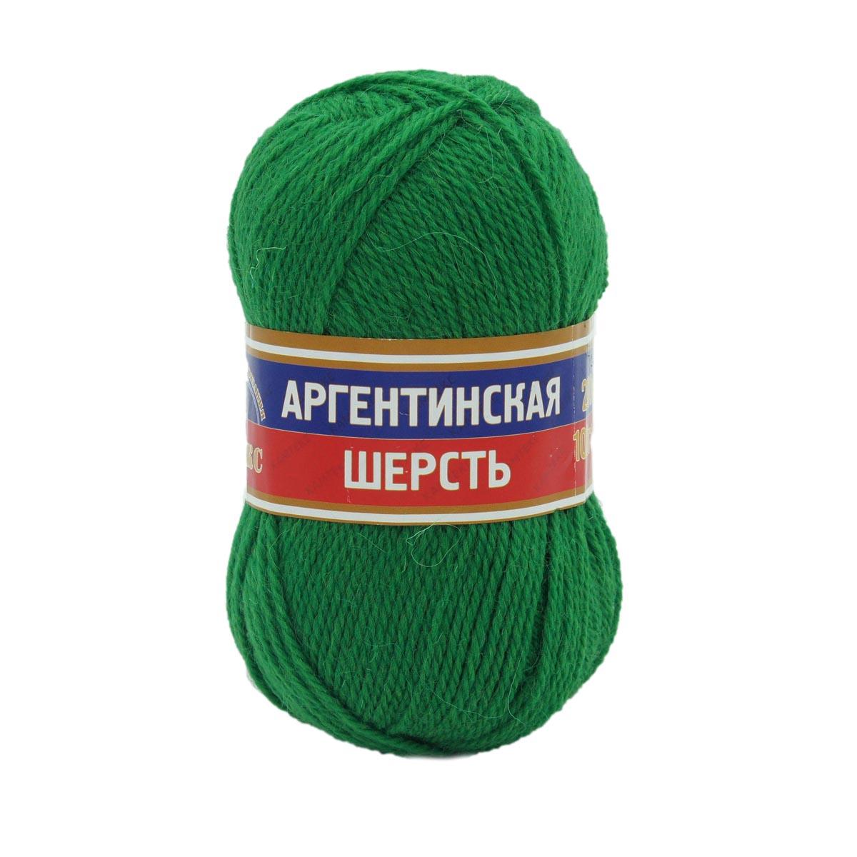Пряжа Камтекс 'Аргентинская шерсть' (100%шерсть) (044 трава) фото