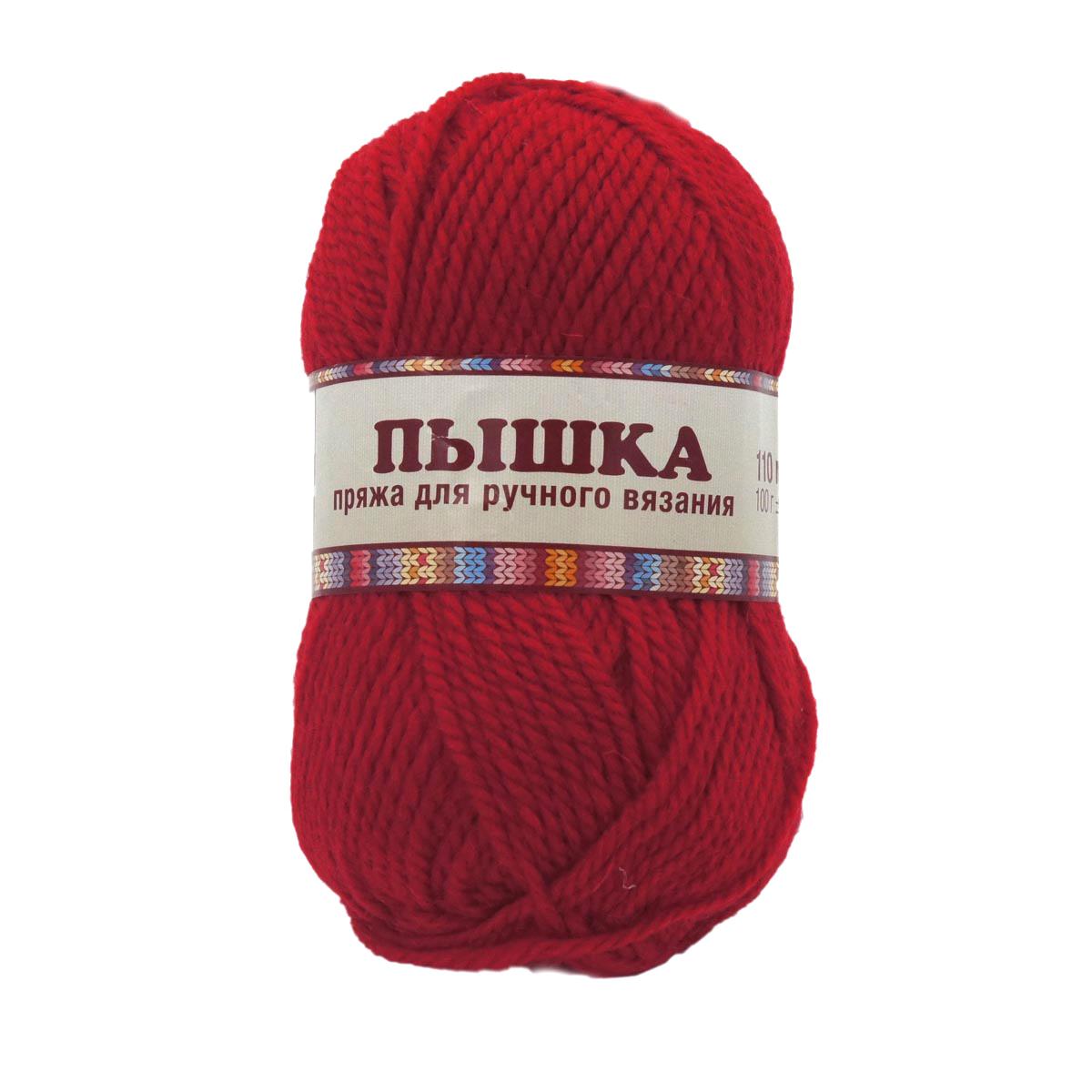 Пряжа Камтекс 'Пышка' (100%шерсть) (046 красный) фото