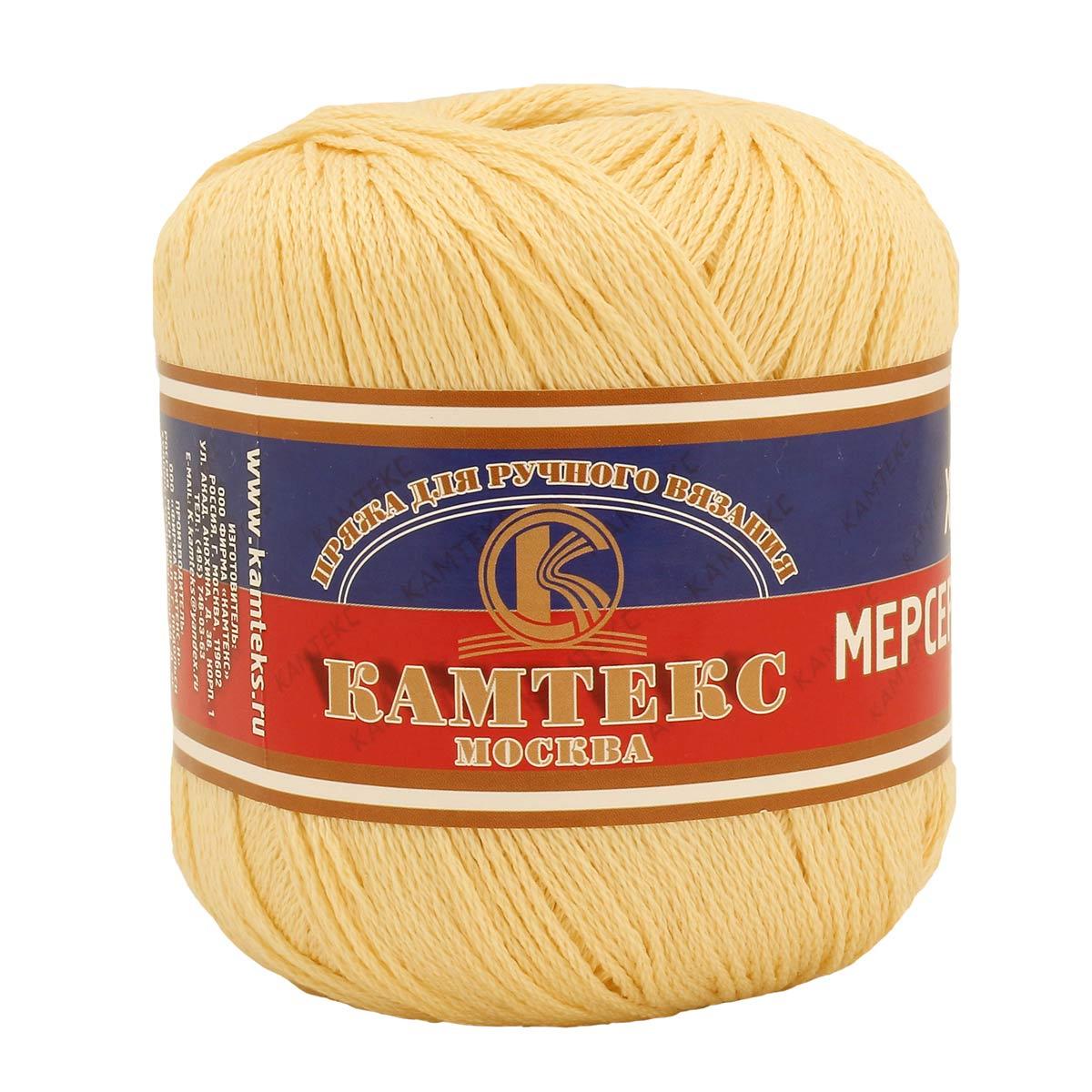 Пряжа Камтекс 'Хлопок мерсеризованный' (100%хлопок) (031 шампанское) фото