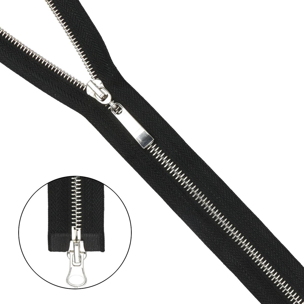 Молния металл-никель разъемная(2 зам.,Т5) - 75см