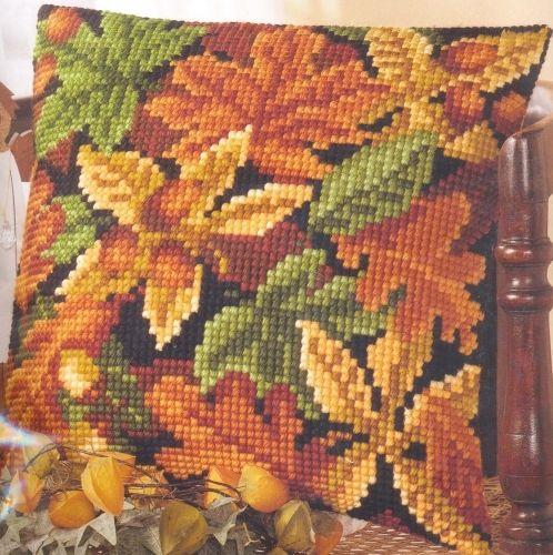 0008640-PN Подушка Vervaco 'Осенняя листва' 40x40см