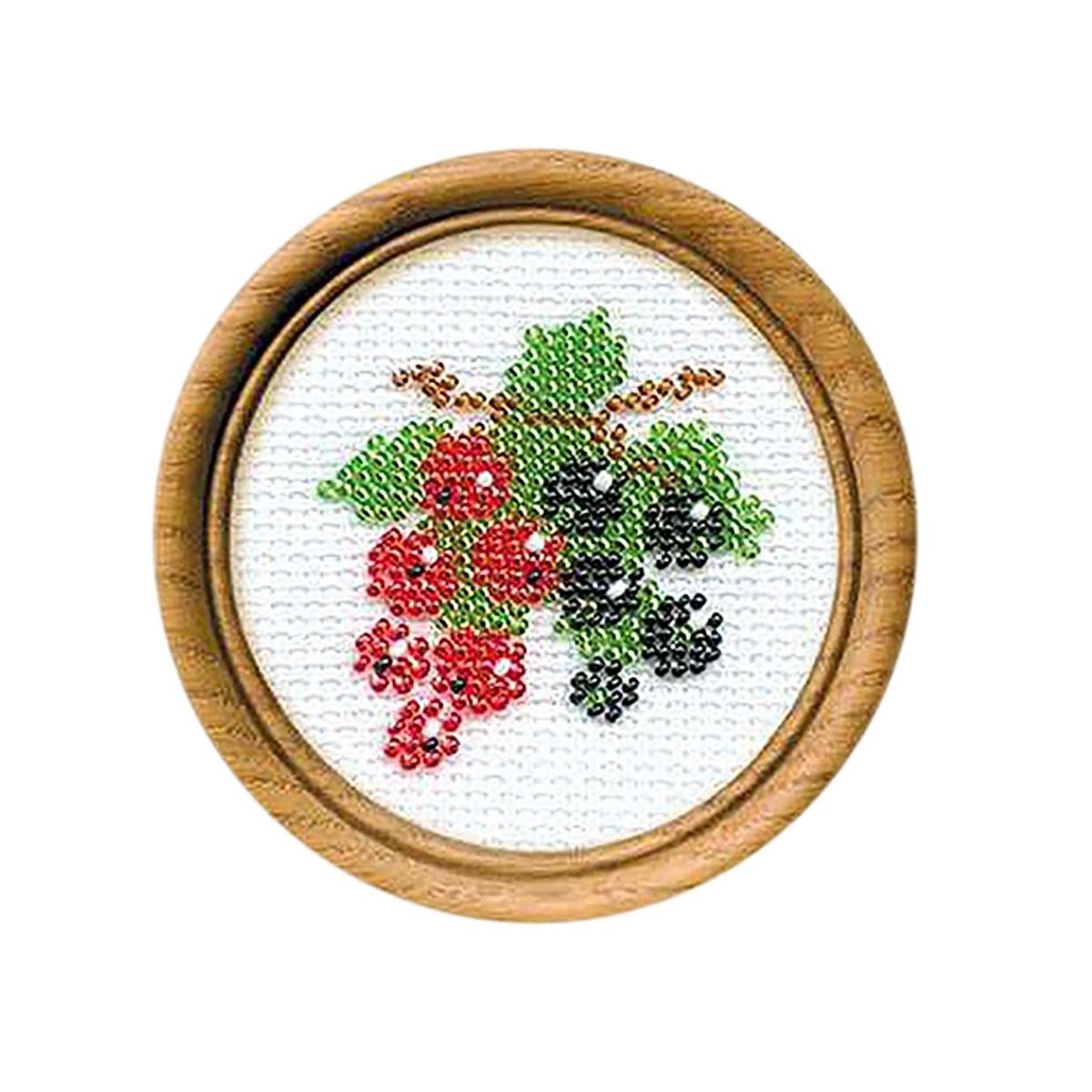 Б069 Набор для вышивания бисером Riolis 'Смородина', 8*8 см
