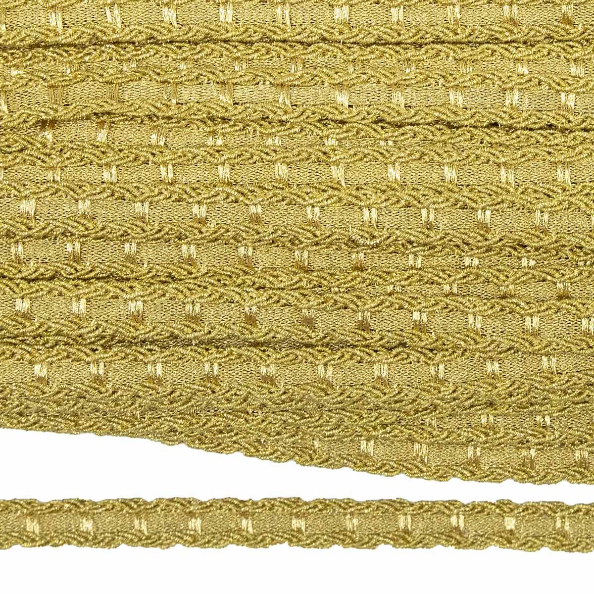23-8012 Тесьма металлиз. 11мм. (ГР)