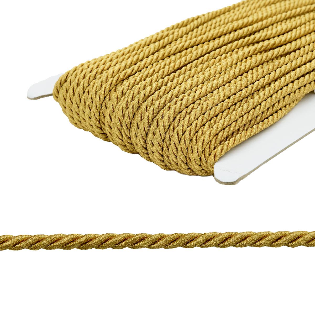 23-105 Шнур витой 5мм*50м люрекс (ГР)