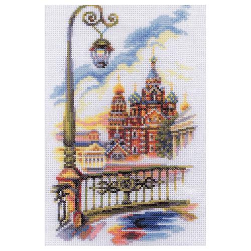 М295 Набор для вышивания RTO 'Храм Спаса-на-Крови', 15х23 см