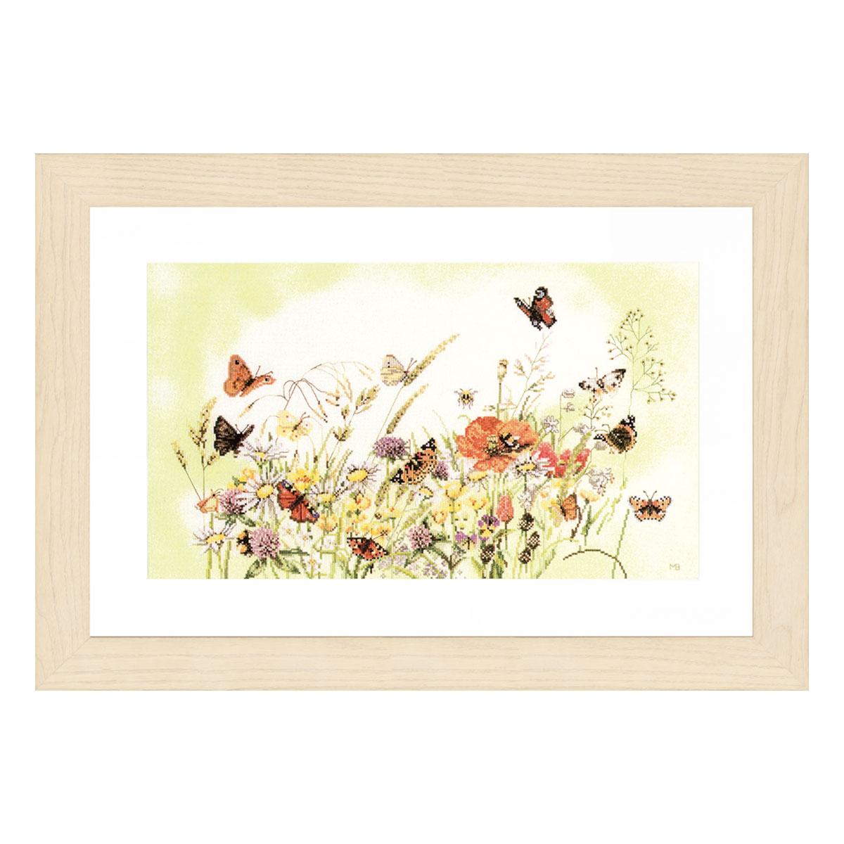 0007967-PN Набор для вышивания LanArte 'Бабочки на лугу' 57x32 см