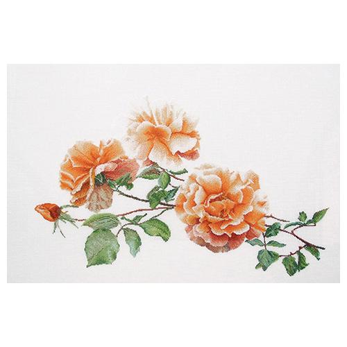 414 Набор для вышивания Gouverneur 'Три розы', лён, 44*65 см