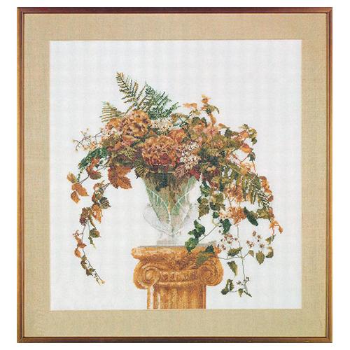 1083 Набор для вышивания Gouverneur 'Осенний букет', лён, 53*56 см