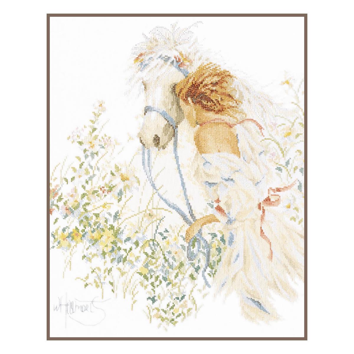 0007952-PN Набор для вышивания LanArte 'Девушка и лошадь' 39x49 см