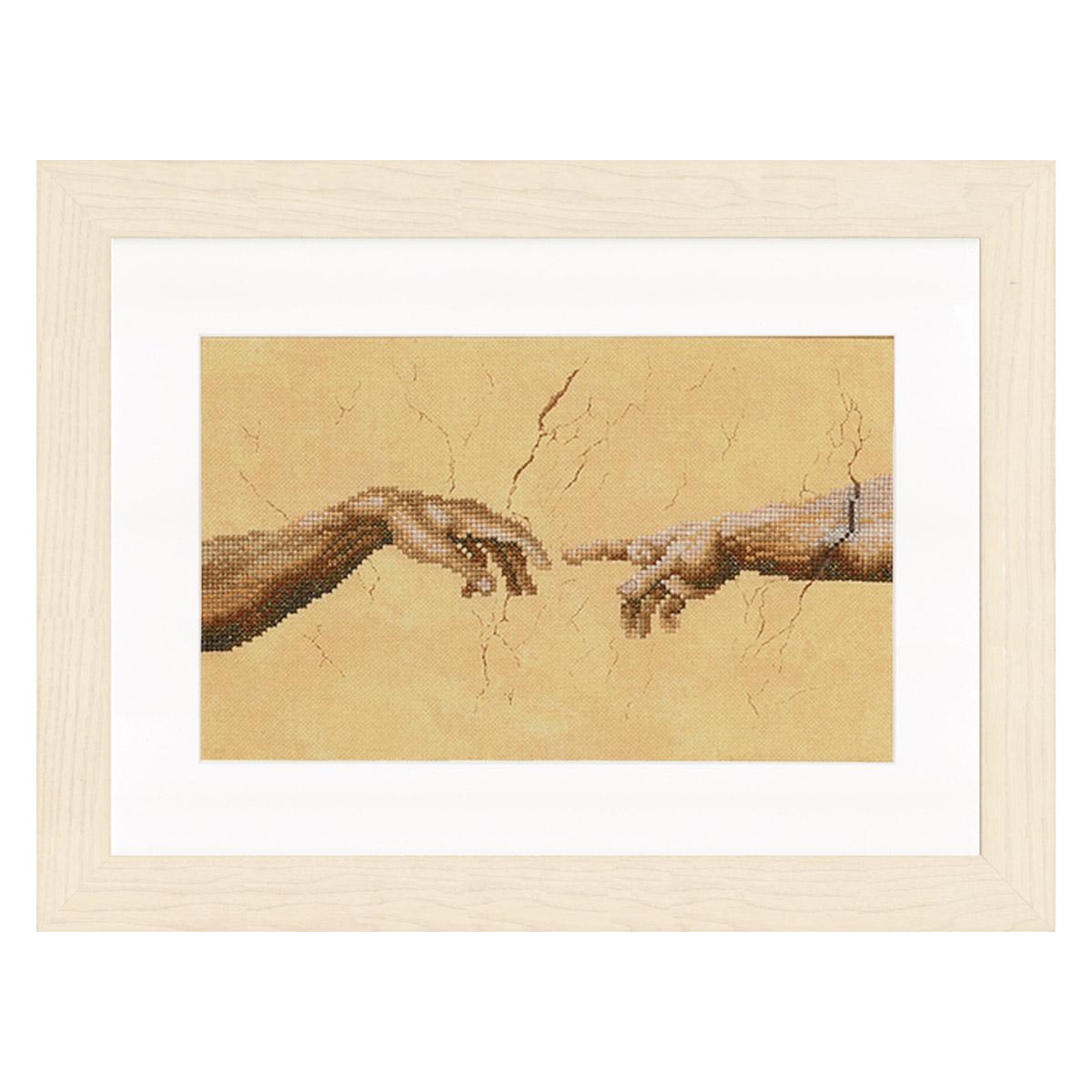 0007975-PN Набор для вышивания LanArte ' Руки. Микеланджело' 26x16 см