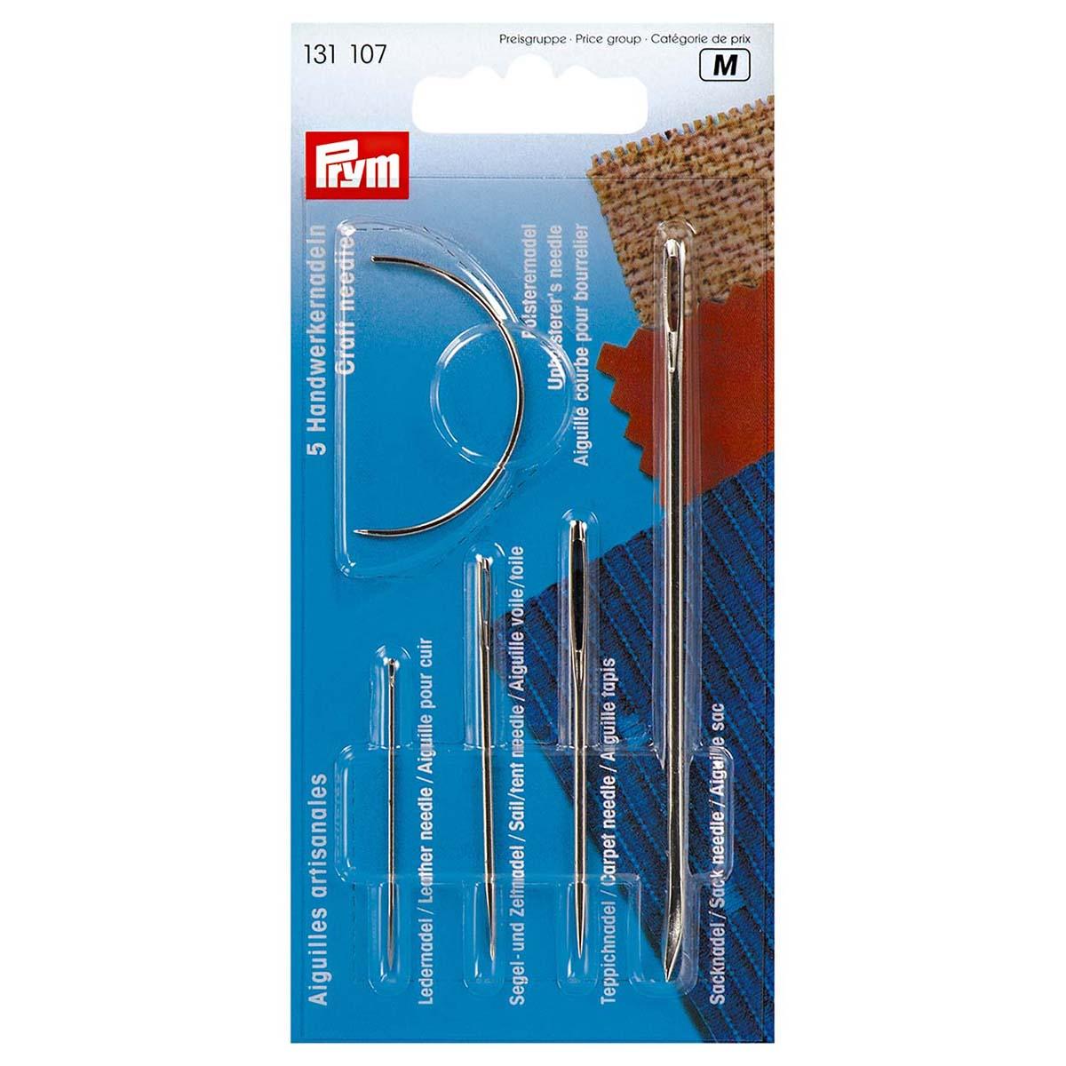 131107 Иглы ремонтные набор для кожи, парусины, ковров, мешковины и мебельной обивки Prym