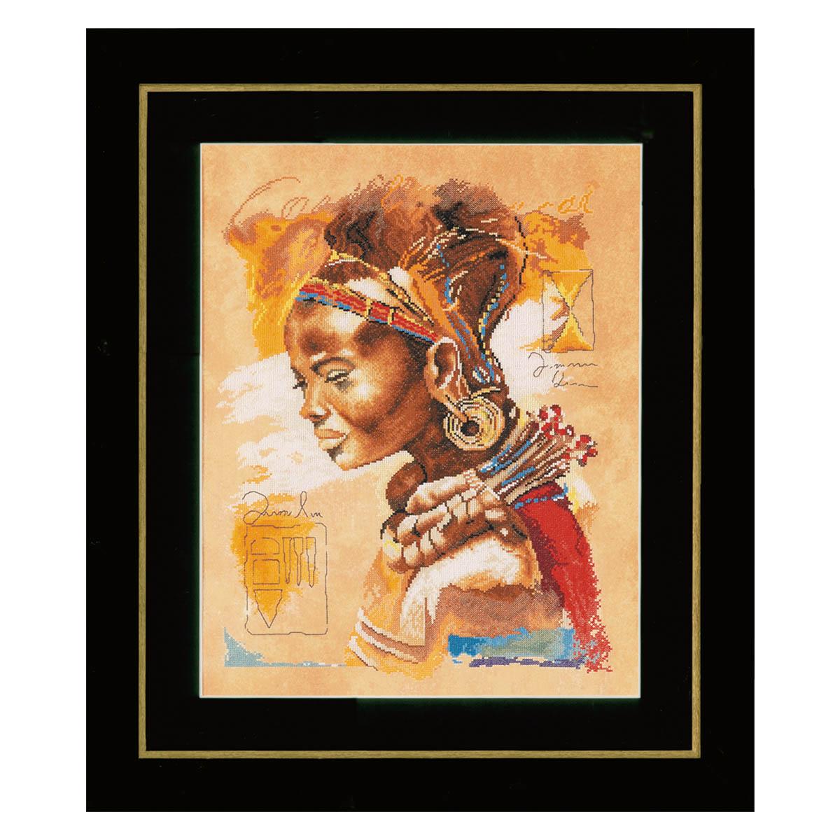 0008009-PN Набор для вышивания LanArte 'Африканская девушка' 39x49 см