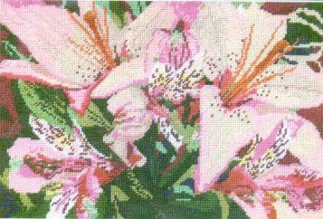 005-0701 Набор д/вышивания JANLYNN 'Азиатские лилии' 30,5*20,3 см