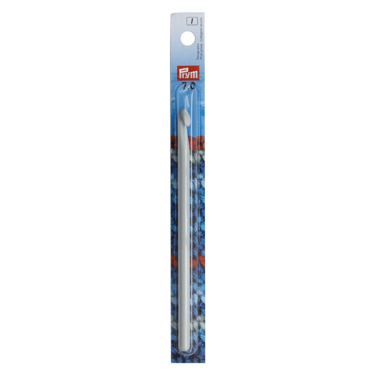 218500 Крючок для вязания, пластик, 7 мм*14 см, Prym