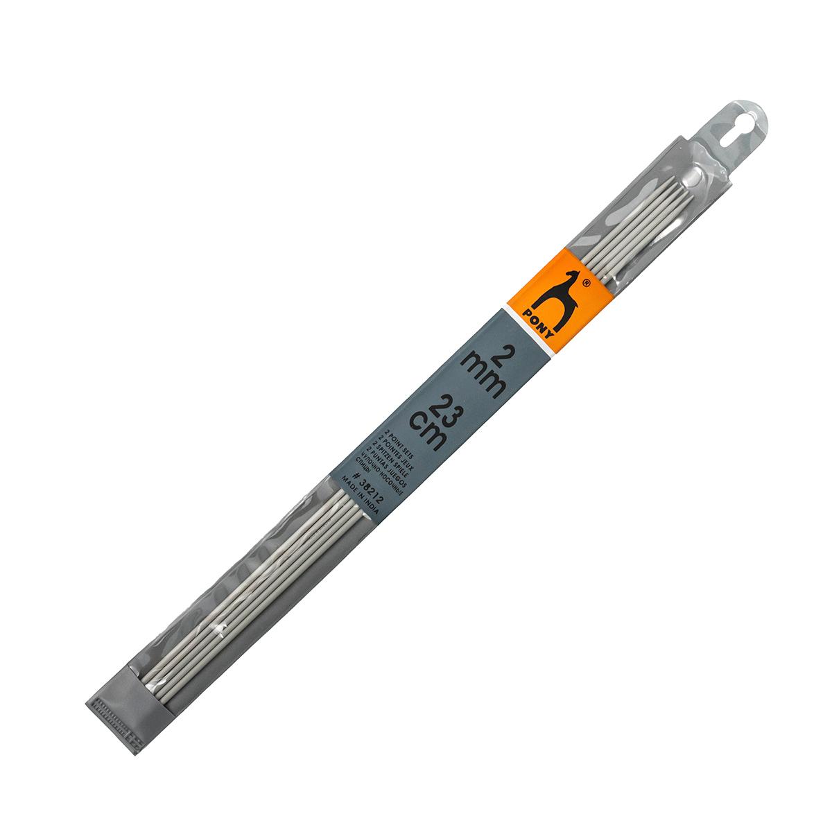 38212 Спицы носочные алюминий 2,0мм*23см PONY