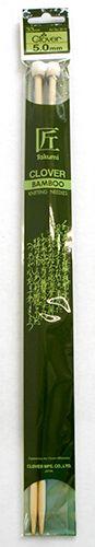 3012 Спицы прямые бамбук 5,0мм*33см Clover