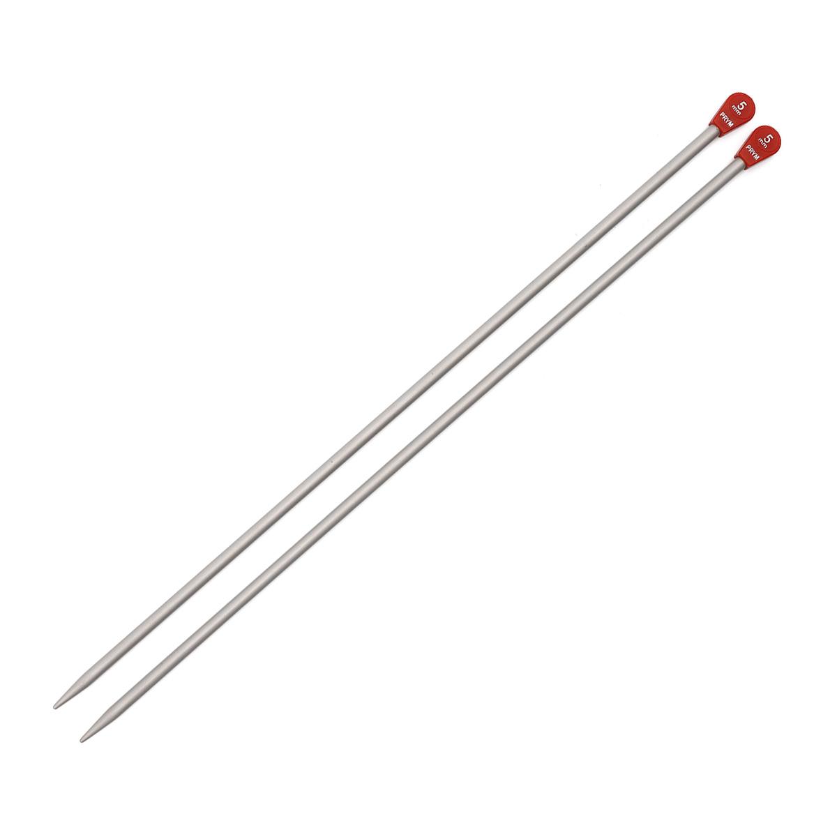 191467 Спицы прямые алюминиевые, 35 см*5 мм, упак./2 шт., Prym