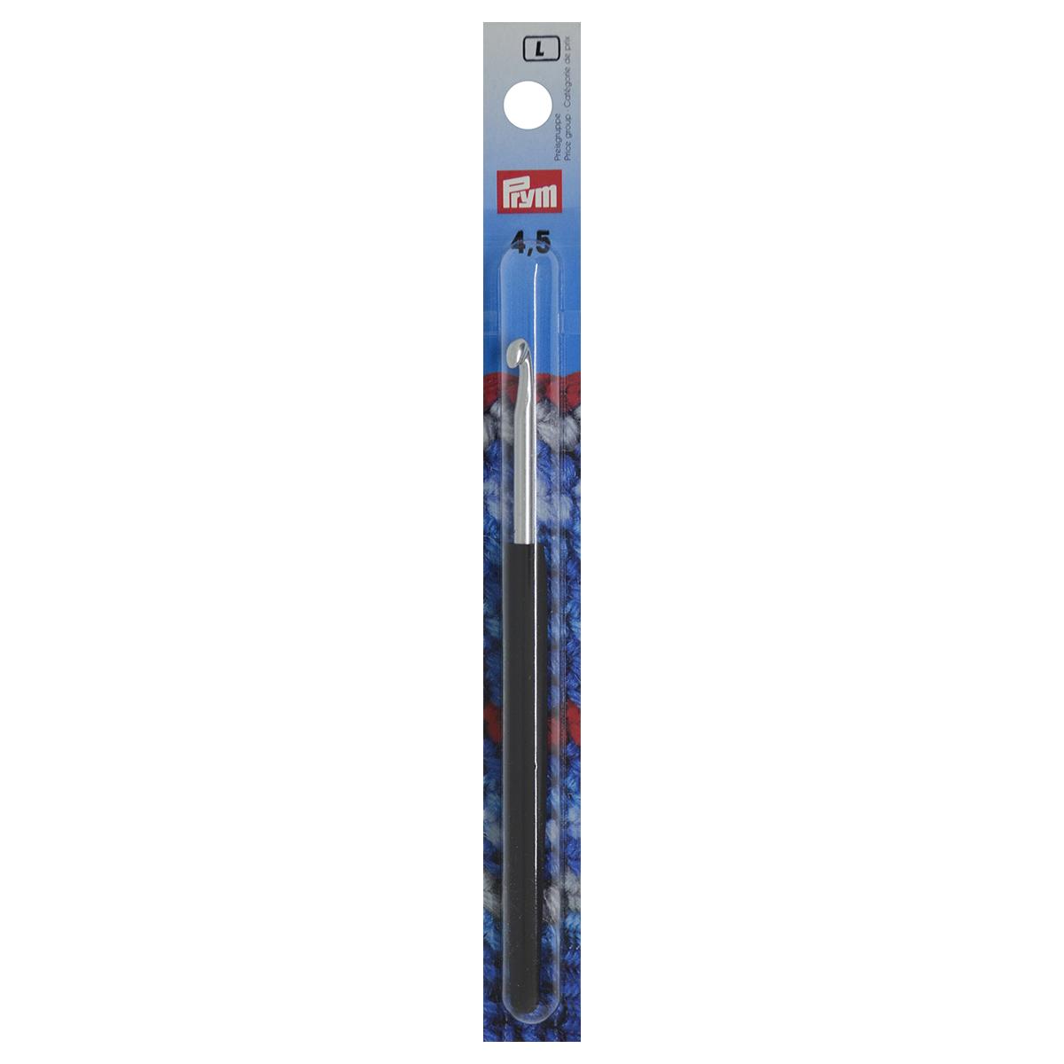 195177 Крючок SOFT вязальный с мягкой ручкой, алюм. 4,5 * 14 Prym