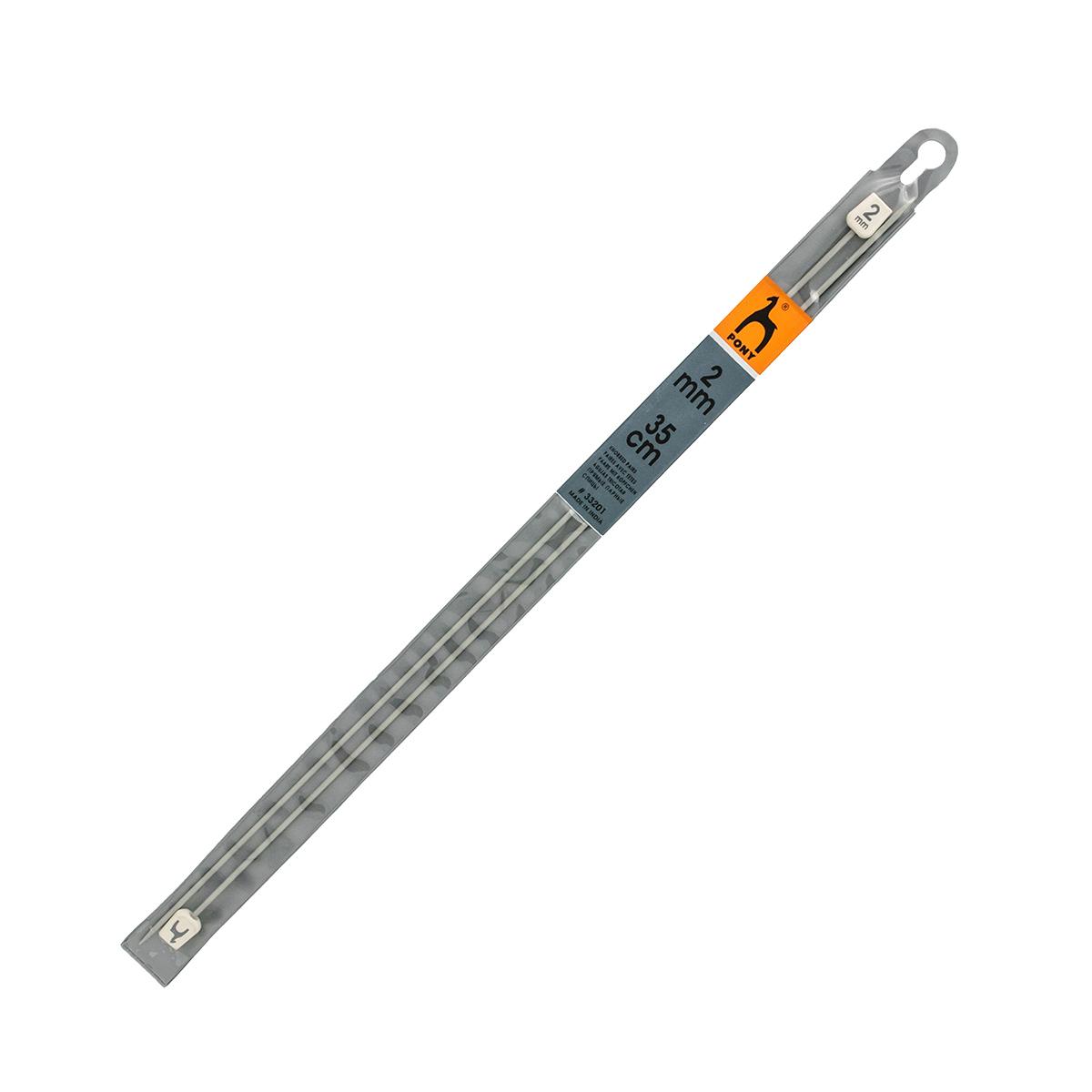 33601 Спицы прямые алюминий 2,0мм*35см PONY