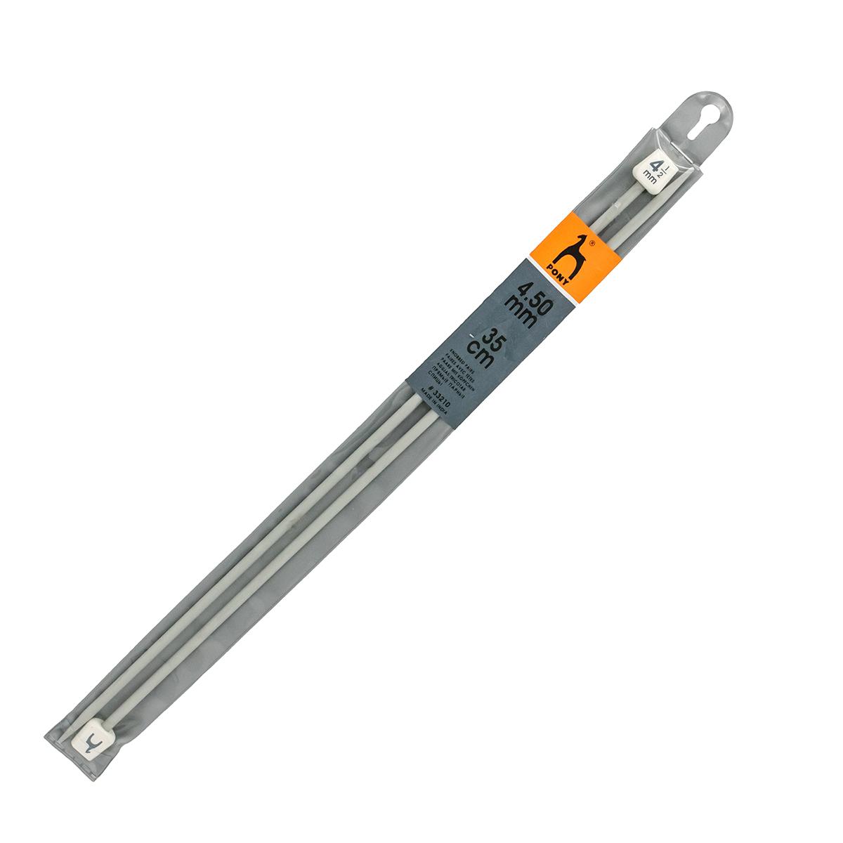 33210 Спицы прямые алюминий 4,5мм*35см PONY