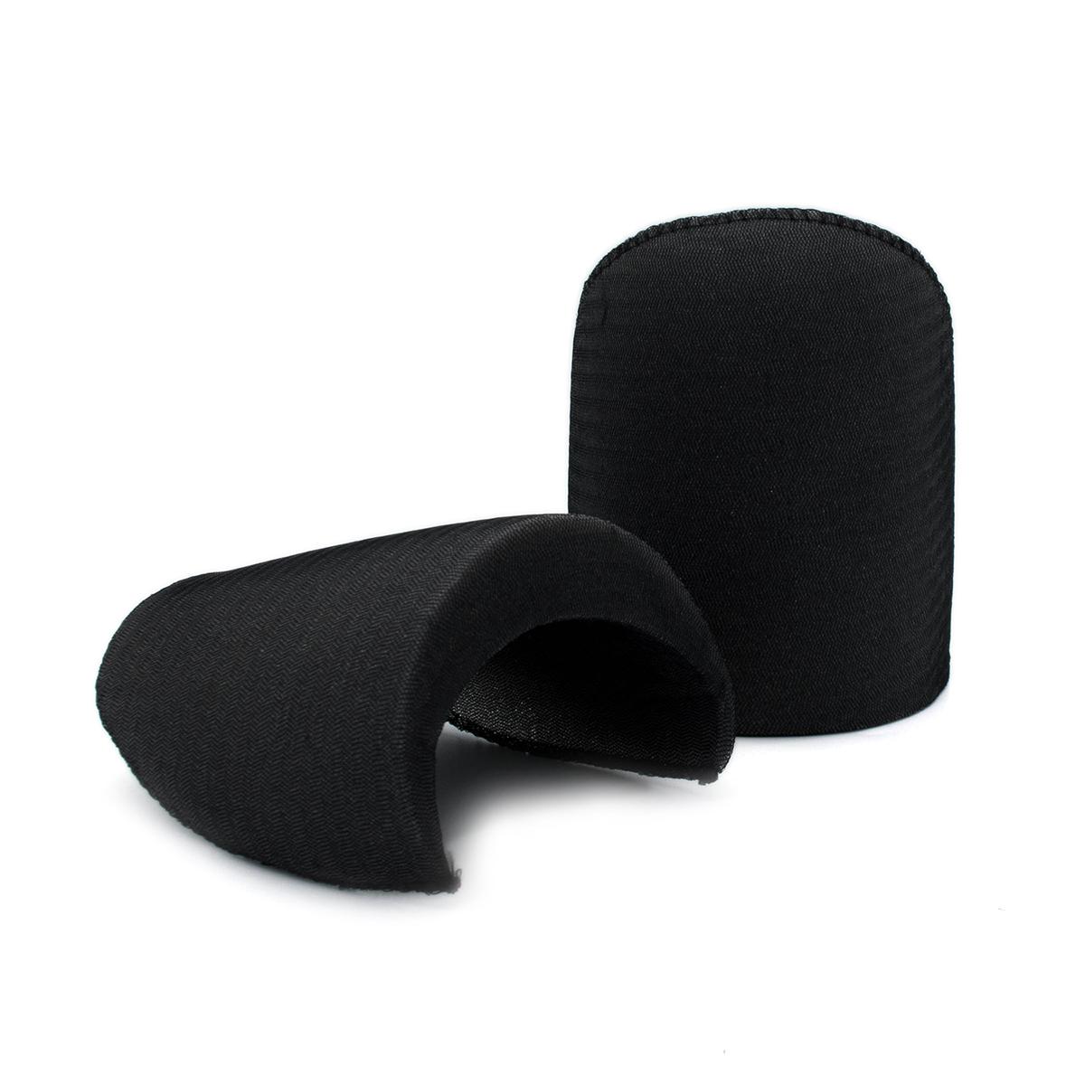В-25 Плечевые накладки обшитые, втачные, черные, 25*140*210 мм