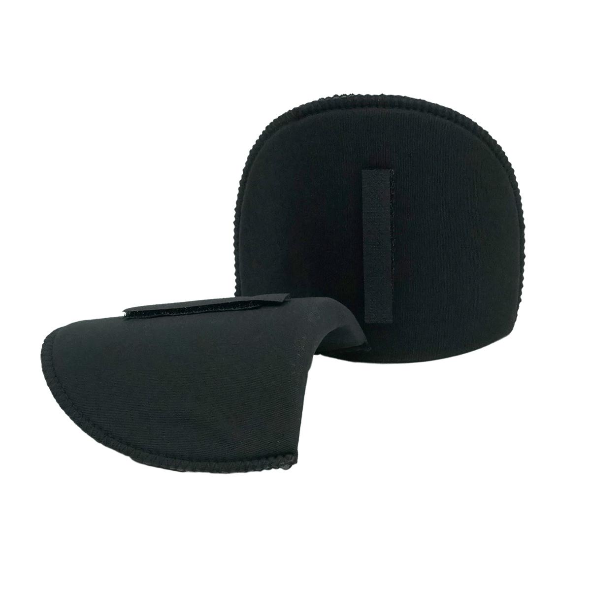 993812 Плечевые накладки с липучкой (S), полумесяц, черный, 125*100*12 мм, упак./ 5 пар, Prym