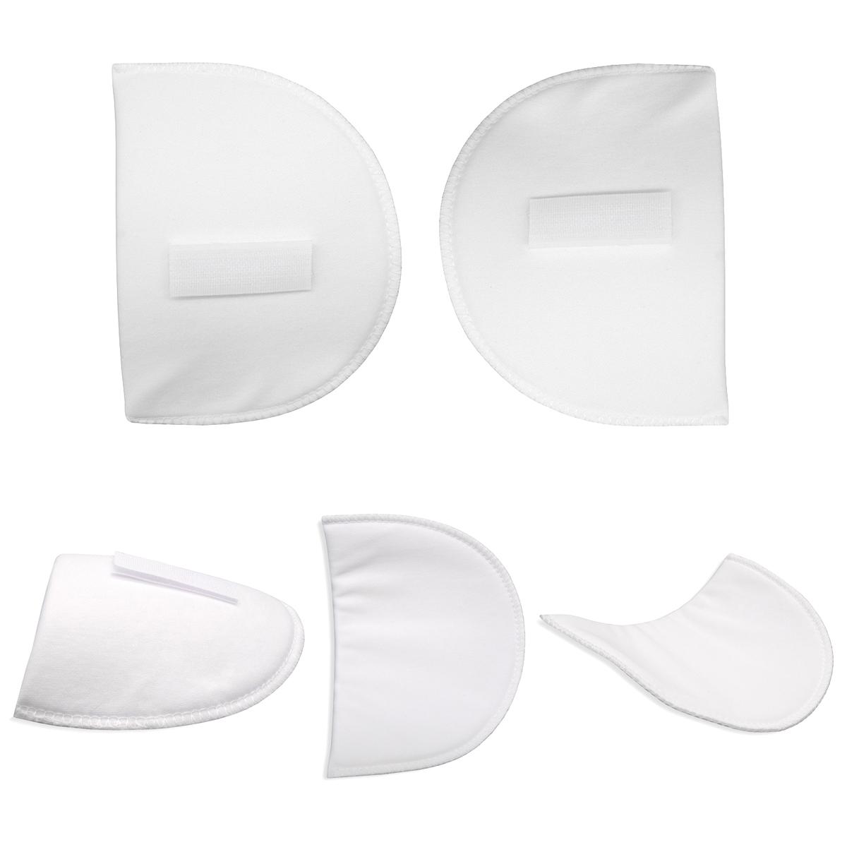 ВК-10/6 Плечевые накладки с плотной обшивкой и конт.-лентой, втачные, белый, 10*100*145 мм