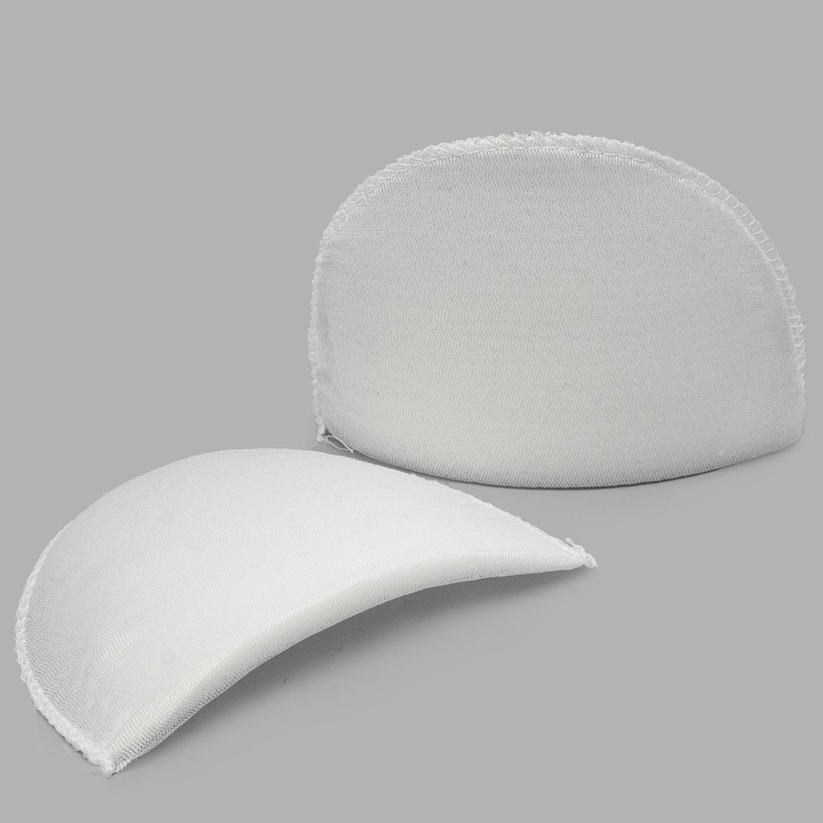 В-10/А Плечевые накладки обшитые, втачные, белый, 10*100*145 мм, Hobby&Pro