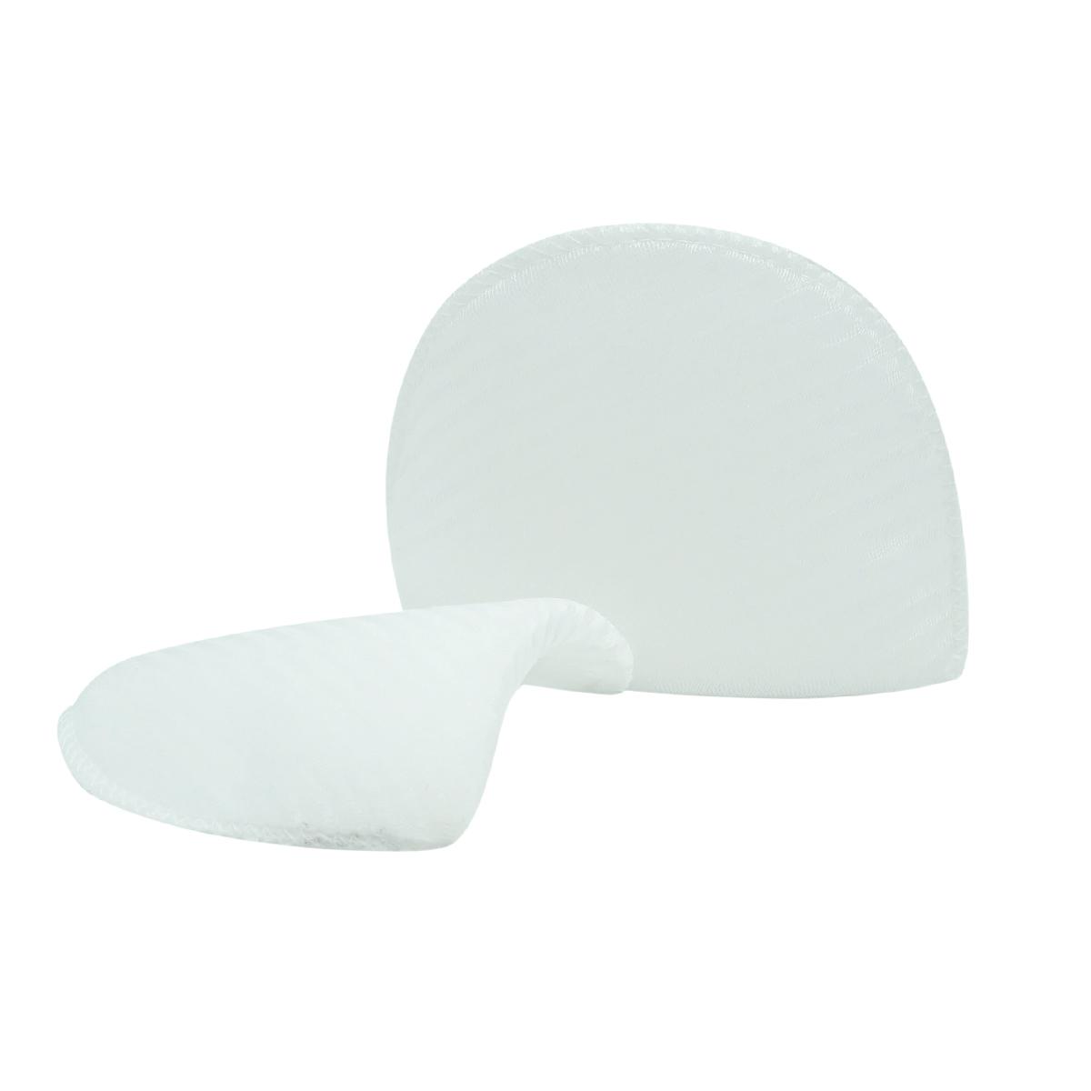 В-8/А Плечевые накладки обшитые, втачные, белый, 8*100*145 мм, Hobby&Pro