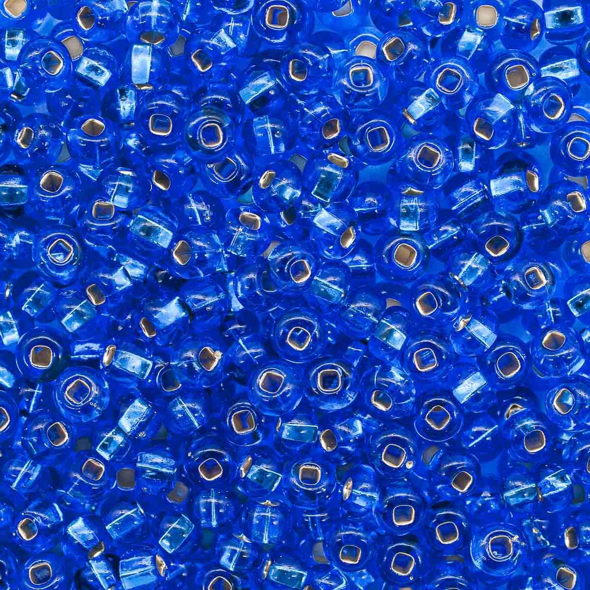 Бисер прозрачный с сереб. центр. 5/0 (37050), кв. отв., 50г Preciosa