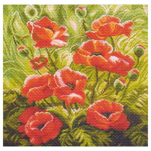 1191 Набор для вышивания подушка 'Матренин Посад' 'Маковый зной', 34*34 см