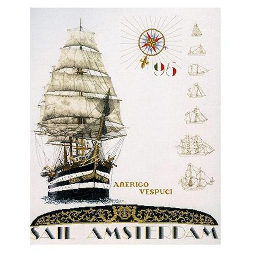 2080 Набор для вышивания Gouverneur 'Парус', лён, 62*77 см