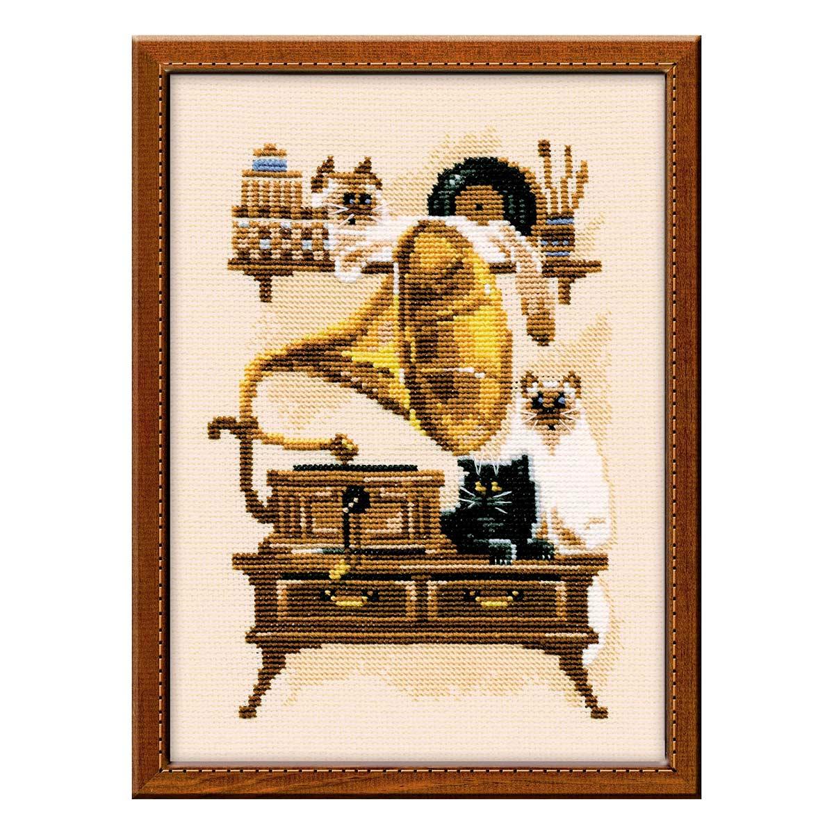 859 Набор для вышивания Riolis 'Патефон', 18*24 см