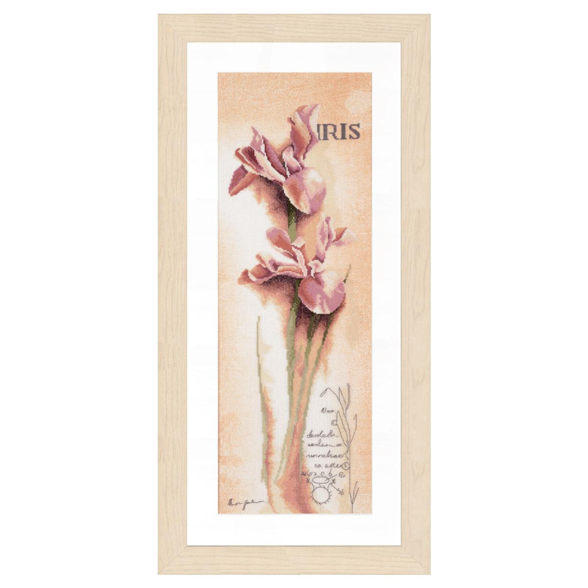 0008049-PN Набор для вышивания LanArte 'Ирис 'Botanical'' 20x60 см