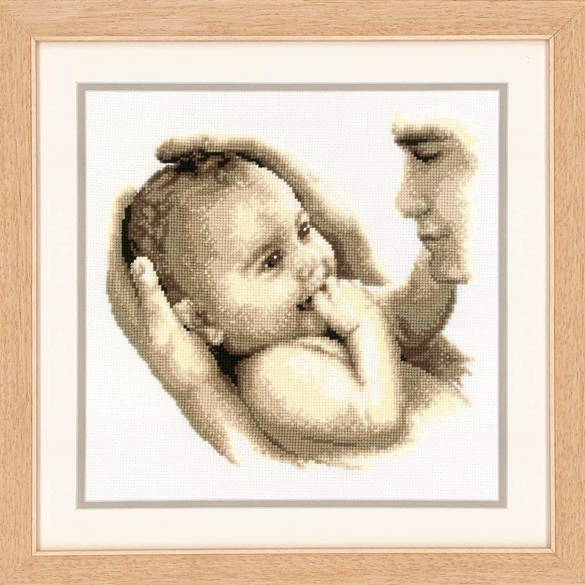 0011872-PN Набор для вышивания Vervaco 'Отцовская любовь' 27x27см
