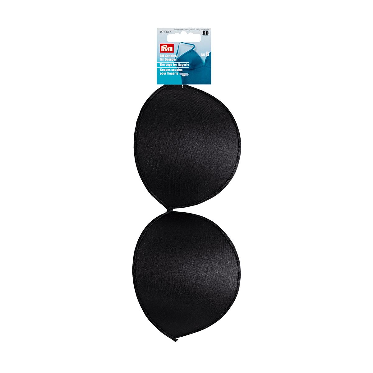 992540 Чашечки для бюстгальтера, размер A (75), черный, Prym