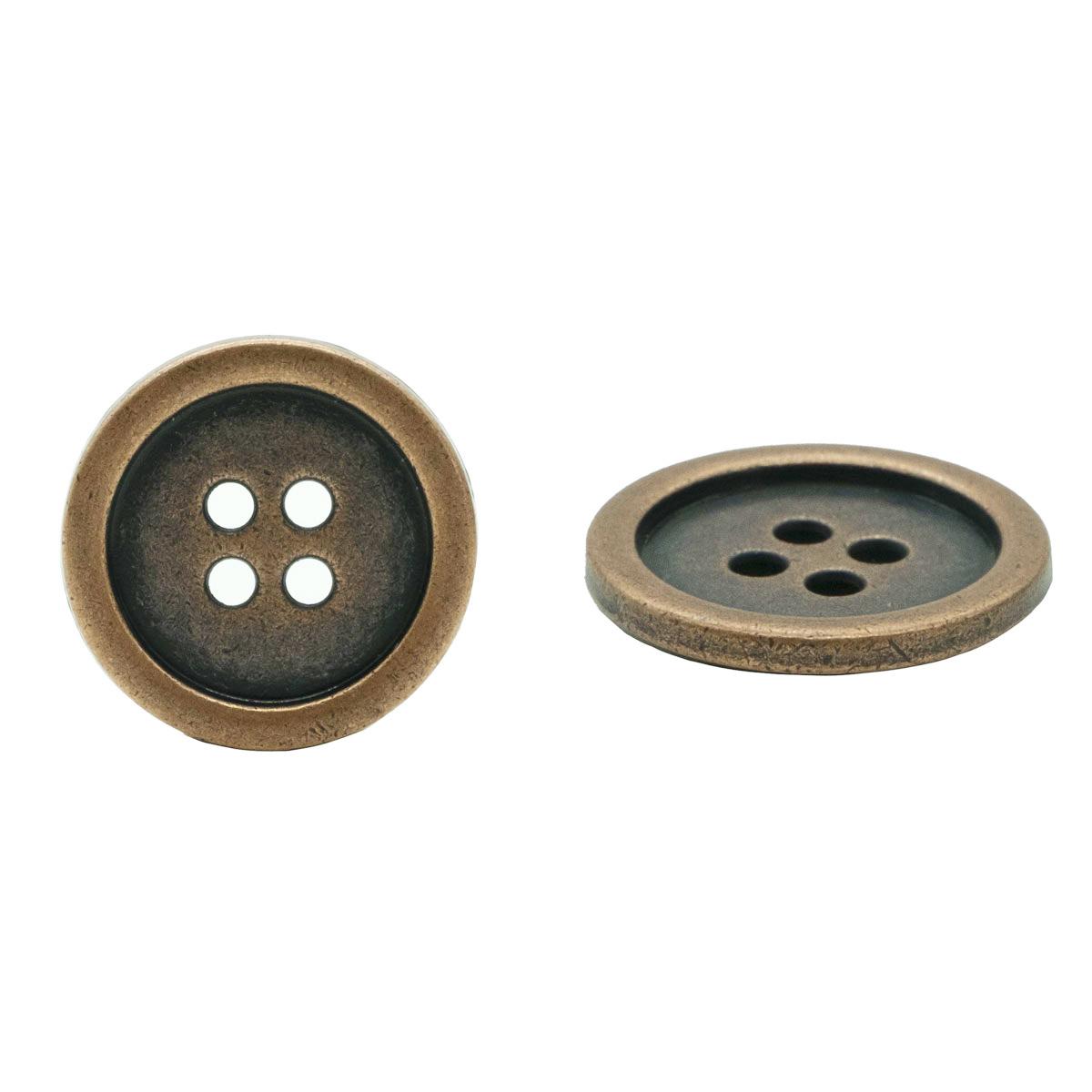 53706/4 Пуговица д-23мм. т.медь