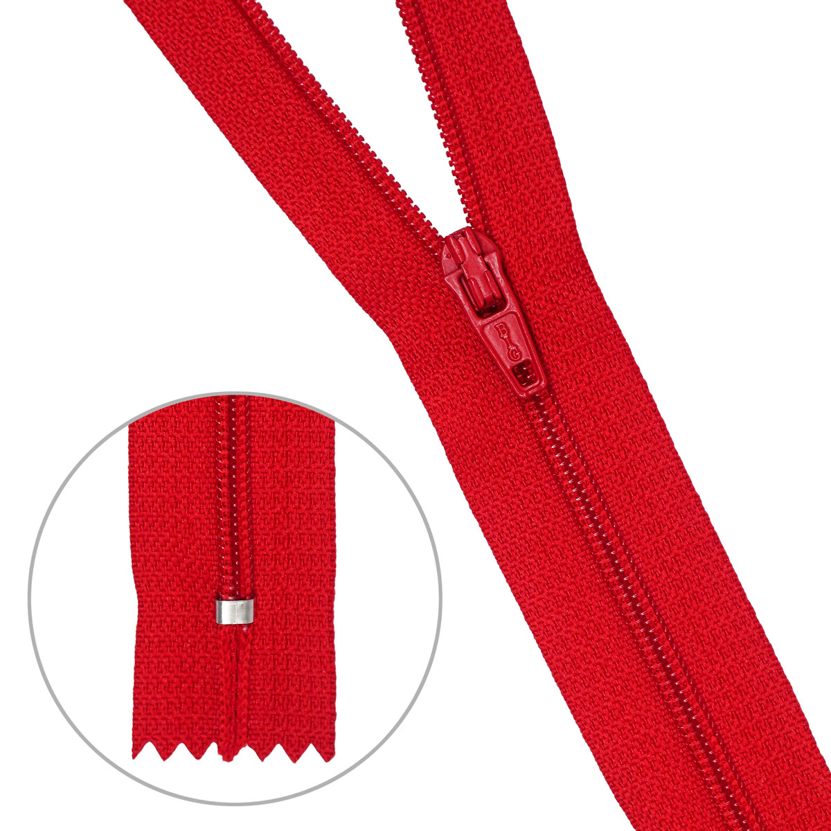 30103 Молния пластиковая красн тип-3 авт 20 см ГР