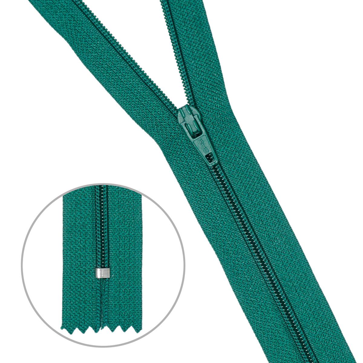 30106 Молния пластиковая т.зел тип-3 авт 20 см ГР