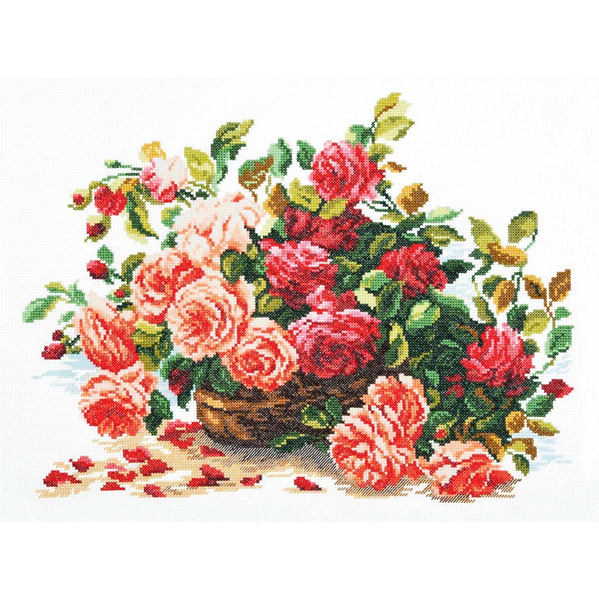 40-38 Набор для вышивания 'Чудесная игла' 'Королевские розы', 38*28 см